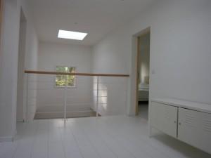 olivier olindo architecte architect architecture enghien les bains maison bois structure mezzanine parquet blanc double hauteur skydome ouverture garde corps