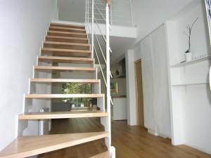 olivier olindo architecte architect architecture enghien les bains maison bois structure espace escalier double hauteur libre aménagement bois blanc wood bois
