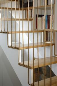 Olivier Olindo Architecte - Appartement D - transparence et bibliothèque