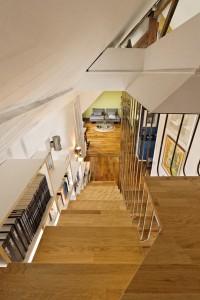 Olivier Olindo Architecte - Appartement D - coin lecture avec la vue sur le salon