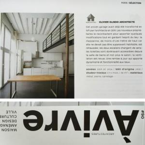 2016 Revue A VIVRE N90 loft B souplex photo olivier olindo architecte architecture ooa reportage article magazine a vivre