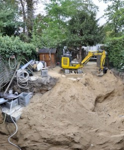 excavation travaux machine tractopelle terre creusé souplex maison agrandissement extension maisons-laffitte architecte olivier olindo paris ooa